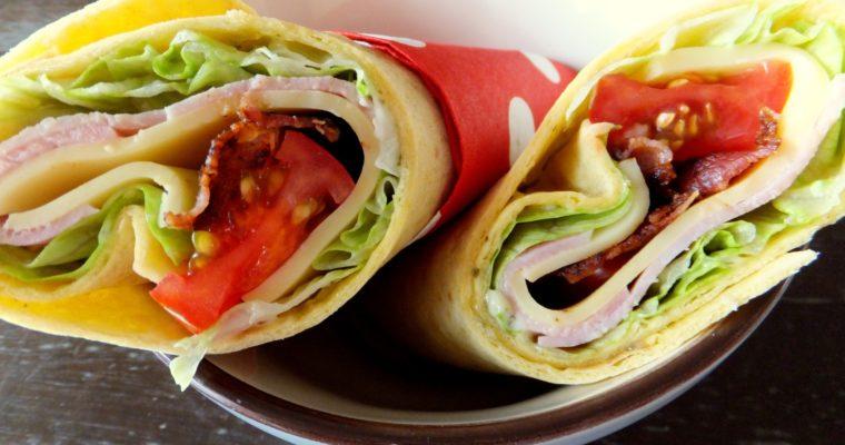 Was für den Picknickkorb – Wraps mit Schinken, Käse und Bacon
