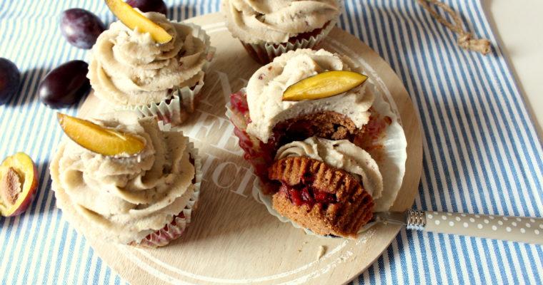 Herbstliche Pflaumen-Cupcakes