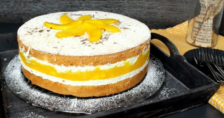 Fruchtige Käse-Sahne-Torte mit Mango