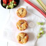 Erdbeer-Rhabarber Streuselmuffins