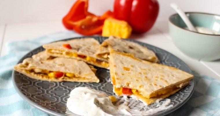 Quesadillas mit Hühnchen