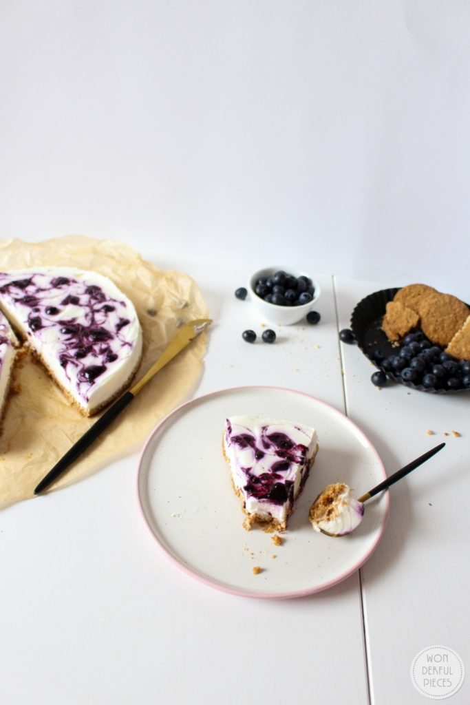No Bake Bluerberry Chesecake